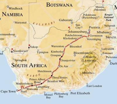 Rovos Rail: Pretoria - Cape Town
